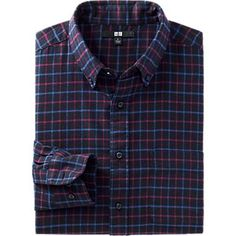 MEN FLANNEL CHECK LONG SLEEVE SHIRT