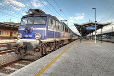 Polish locomotive on Přerov train station