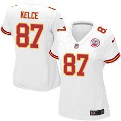 Nike Limited Travis Kelce White Women's Jersey - Kansas City Chiefs #87 NFL Road