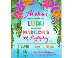 Free Printable Luau Invitation Templates Tropical Luau Invitation