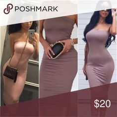 Nude Strapless Bodycon Dress Ships NEXT DAY ⚡️😃📦⚡️ Holds are cool 👍🏽💞 Bundle + Save 15% off 2+ items ➕💱 No trades. Fck all that ⚫️ No paypal. Too confusing ⚫️ Don't call me Hun 👊🏽💥  EVERY OFFER CONSIDERED ... 🎈👀   📲 Like us on Facebook for first dibs on new stuff : Digitalgirl [link in profile] Dresses Strapless