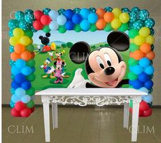 Mickey Mouse Birthday Decorations, Mickey 1st Birthdays, Mickey Mouse First Birthday, Mickey Mouse Clubhouse Birthday Party, 1st Birthday Party Themes, Mickey Mouse Parties, Mickey Party, Bolo Do Mickey Mouse, Fiesta Mickey Mouse