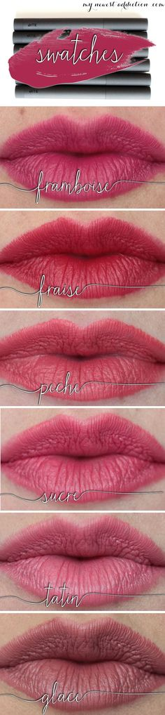 Bite Beauty Matte Creme Lip Crayon lip swatches