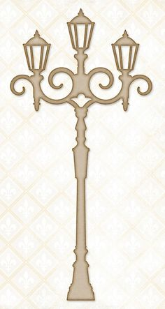 Blue Fern Studios - Chipboard - Evening Lamp Post-Measures nearly 7 tall and wide. Stencils, Christmas Crafts, Christmas Decorations, Diy And Crafts, Paper Crafts, Creation Deco, Stencil Patterns, Kirigami, Chipboard