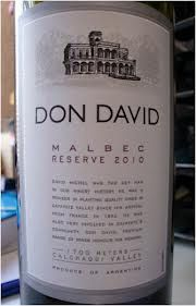 Happy Malbec Day! Deep dusty dark blackberry and blueberry – love the smell. Lush. Pine. Earth.Taste isn't as good as the smell but I still like it. A different kind of cool. $14