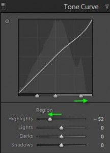 Narrowing the Range of Tones Affected with the Lightroom Tone Curve