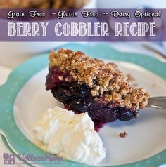 Healthy Berry Cobbler Dessert Recipe with Almond Flour - One of my favorite healthy recipes #recipe #grainfree #glutenfree