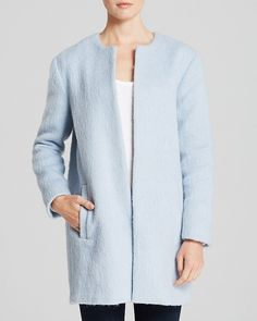 In a subtle pastel blue shade, this coat from Essentiel will make an excellent addition to your spring wear portfolio. Description from polyvore.com. I searched for this on bing.com/images
