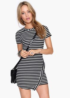 Great striped dress, would be great with tights or leggings too.