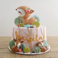 Home Cottontail Cake Studio Sugar Art PastriesCottontail Cake Studio Sugar Art Pastries Baby Girl Birthday Cake, Fall Birthday, First Birthday Cakes, Birthday Parties, Custom Birthday Cakes, Gateau Baby Shower, Rodjendanske Torte, Deer Cakes, Woodland Cake