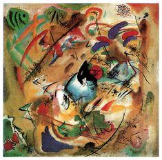 Kandinsky. Improvisation (Dreamy). Oil on canvas. 1913. Munich