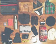 .Packing for our west coast road trip.