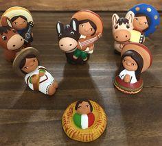Un favorito personal de mi tienda Etsy https://www.etsy.com/es/listing/494505575/nativity-mexican-style-5-pieces