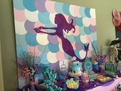 Amazing backdrop at a mermaids and pirates birthday party! See more party ideas at CatchMyParty.com!
