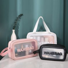Toiletry Storage, Bag Storage, Travel Toiletries, Travel Cosmetic Bags, Travel Bags, Makeup Bag Organization, Outdoor Girls, Clear Bags, Pregnancy