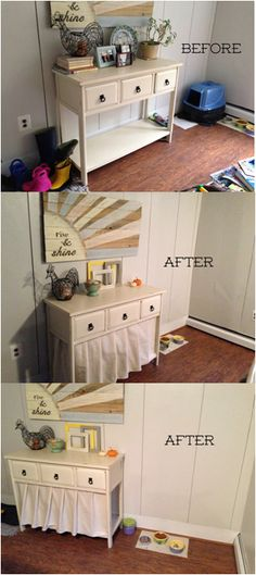 Cat Training Litter Box Ok so I love my cat dearly but I couldn't take the litter box being exposed in the kitchen any longer! Not only was it an eye sore it just seemed yucky, you know what I mean? I searched online hig. Food Storage Cabinet, Dog Food Storage, Toy Storage, Storage Cabinets, Storage Ideas, Hidden Storage, Storage Hacks, Diy Litter Box, Hidden Litter Boxes