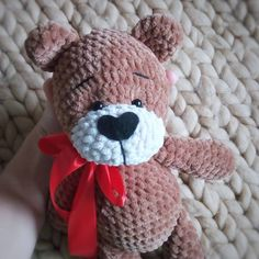 Cute bear. Crochet pattetn Russian
