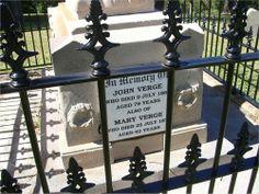 grave of John Verge (1782-1861)  Mary Verge nee Alford (1804-1872)