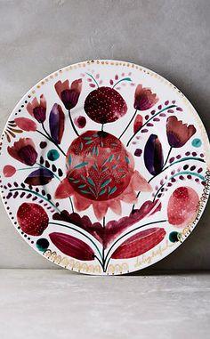 Harvest Foliage Side Plate #anthrofave ~ETS #florals