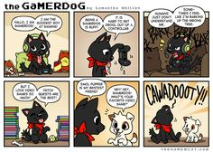 Dogs are the best amirite. (This was posted for the April Fool's update over on Tapas) Gamer Cat, April Fools, The Fool, Tapas, Comics, Dogs, Pet Dogs, Doggies, April Fools Pranks