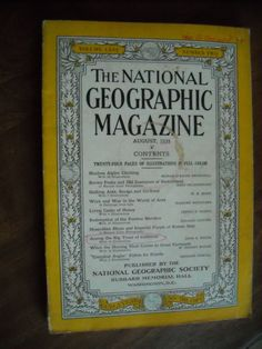 National Geographic August 1934 Vol. LXVI No. Two - Alpine Switzerland - for sale at Wenzel Thrifty Nickel ecrater store