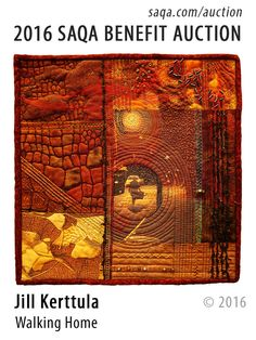 """Walking Home"" - art quilt by Jill Kerttula"