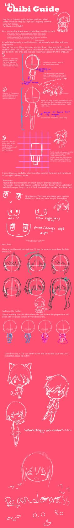 A guide for drawing chibi by hikaru123qq from deviantart
