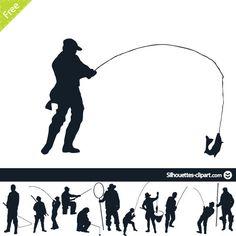 fisherman vector silhouette