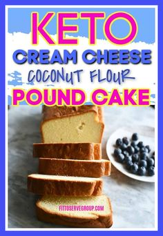 Keto cream cheese coconut flour pound cake is delicious low carb cream cheese pound cake that is grain-free, gluten-free, sugar-free, nut-free and flat-out delicious. Coconut Flour Cakes, Coconut Pound Cakes, Coconut Flour Recipes, Pound Cake Recipes, Almond Flour, Almond Butter, Sugar Free Pound Cake Recipe, Gluten Free Pound Cake, Low Carb Sweets