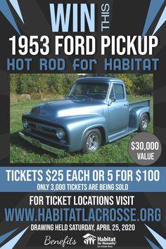 Hot Rod for Habitat Raffle La Crosse, Habitat For Humanity, Facebook Sign Up, Get One, Crow, Brewery, Habitats, Hot Rods, Ticket