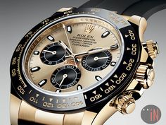 """""""Another Baselworld 2017 Novelty!"""" #Rolex 40mm Oyster Perpetual Cosmograph Daytona Available iN 18k: Yellow, White or Everose Gold http://blog.elementintime.com/index.php/rolex-oyster-perpetual-cosmograph-daytona/"""