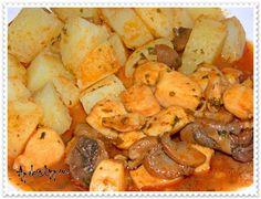 Ninho de Potas com Cogumelos e Vinho do Porto