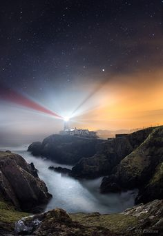 ~~Fanad Lighthouse | County Donegal, Ireland. Captured long after sunset a foggy haze diffused the after glow in the sky and created a surreal scene which contrasts under the clear starry sky | by Stephen Emerson~~