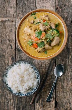 Green Curry Chicken, by thewoksoflife.com