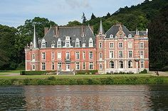 Dave Castle, also known as Fernan-Nuñez Castle (French: Château de Dave, Château Fernan-Nuñez) is a château in the village of Dave, also known as Dave-sur-Meuse, now a part of the city of Namur, Belgium.  The château stands on the banks of the Meuse. It was originally a medieval structure, the centre of power of the influential sieurs de Dave, but was ruined in the 17th century, and re-constructed in the 18th and 19th centuries by the Dukes of Fernan-Nuñez, whence the alternative name.