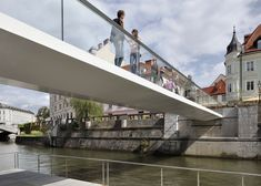 Arhitektura d.o.o. designs minimalist footbridge in Ljubljana