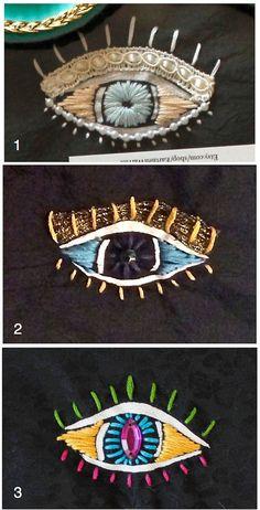 Evil Eye Embroidered Sleep Mask by EarthenWarrior on Etsy
