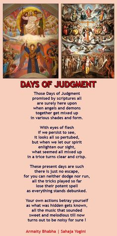 Sahaja Yoga- poem on Last Judgement by Armaity Bhabha