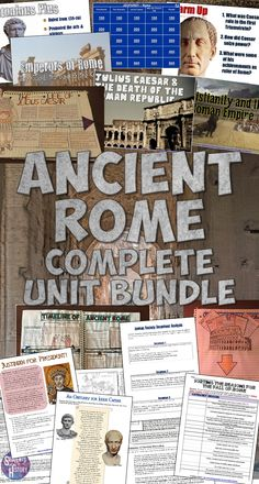 Everything you need to teach about Ancient Rome in one easy-to-download bundle! Almost 50 amazing lesson activities!