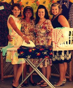 THIS WOULD BE SUPER CUTE!!! AN IRONING BOARD WITH AN IRON AND SOME CLOTHES AND A PROP AND DECOR :) Want to host a Vintage 60's Happy Housewife Bridal Shower one day
