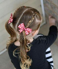 Toddler hair styles we love! #youngandfree  https://youngandfreeapparel.com/ Easy Girl Hairstyles, Hairstyles For Toddlers, Hair Ideas For Toddlers, Braids For Toddlers, Princess Hairstyles, Teenage Hairstyles For School, Cute Toddler Hairstyles, Braided Hairstyles, School Hairstyles