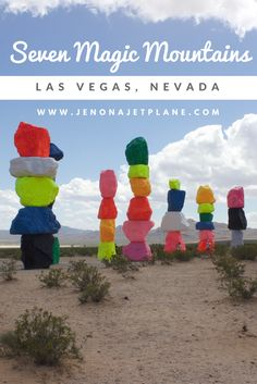 Seven Magic Mountains is an art installation outside of Las Vegas, Nevada. On display for a limited time only!