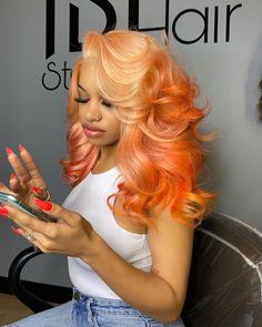 tadiorx Colored Weave Hairstyles, Curly Hair Styles, Natural Hair Styles, Baddie Hairstyles, Hair Laid, Aesthetic Hair, Human Hair Wigs, Hair Looks, Dyed Hair