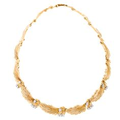 VAN CLEEF & ARPELS Drape Diamond Gold Necklace
