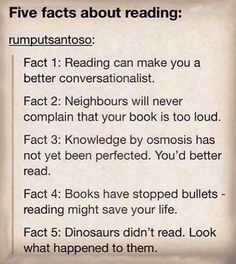 You can't argue with these reading facts.