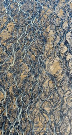 Aerial photos of Iceland look like abstract paintings.  Photos by Russian photographer, Andre Ermolaev.