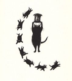 Edward Gorey illustration for T.S. Eliot's Old Possum's Book of Practical Cats.