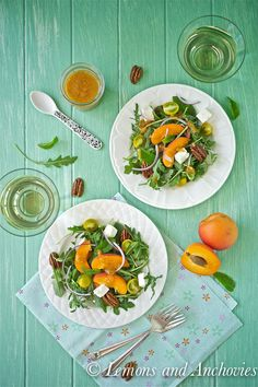 Arugula Salad with Apricot-Mint Vinaigrette