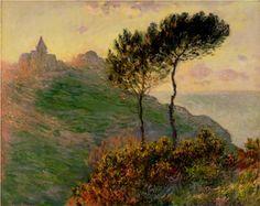 The Church at Varengeville - Claude Monet .1882