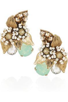 Sur L'Eau Swarovski Crystal Earrings.  these are beautiful.